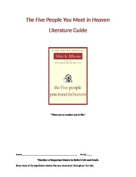 The Five People You Meet in Heaven (by Mitch Albom) Literature Guide