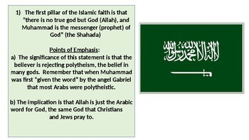 The Five Pillars and other beliefs of Islam