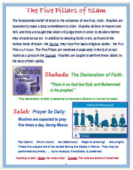 The Five Pillars of Islam + Assessment