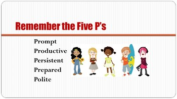 The Five P's for Success