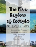 The Five Regions of Georgia Activity Pack