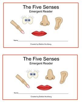 The Five Senses--Emergent Reader