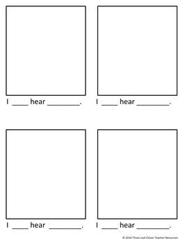 The Five Senses - Hearing -Mini Books,Vocabulary, Assessments