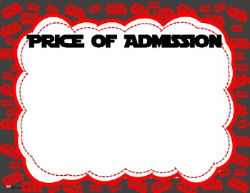 Star Wars Themed Price of Admission Poster [FREEBIE]