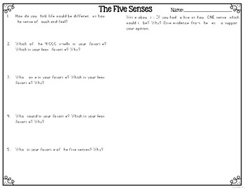 The Five Senses Leveled Texts for Differentiated Reading