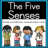 The Five Senses {Printable worksheets, mini book, & posters}