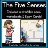 The Five Senses {Printable worksheets, mini book, & posters}
