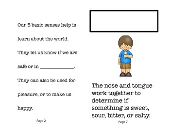 The Five Senses Science Interactive Booklet