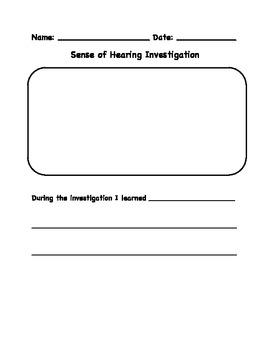 The Five Senses - Sense of Hearing Investigation