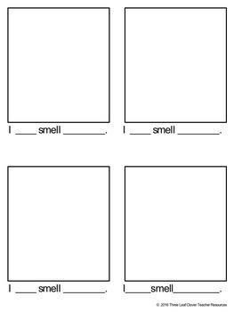 The Five Senses - Smelling - Mini Books,Vocabulary, Assessments
