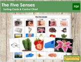 The Five Senses (5 Senses) - Sorting Cards & Control Chart
