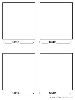 The Five Senses - Tasting - Mini Books,Vocabulary, Assessments