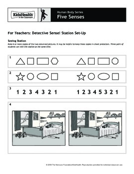 The Five Senses Teacher's Guide (Pre-K to Grade 2)