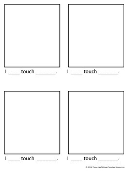 The Five Senses - Touching - Mini Books,Vocabulary, Assessments