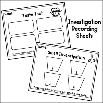 My Five Senses Science Game, Activities and Emergent Reader