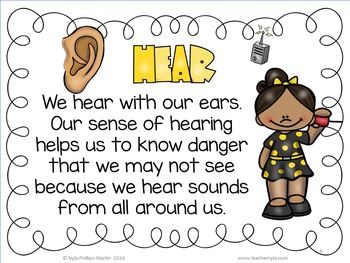 The Five Senses Worksheets, Posters and Activities