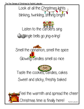 The Five Senses of Christmas Poem