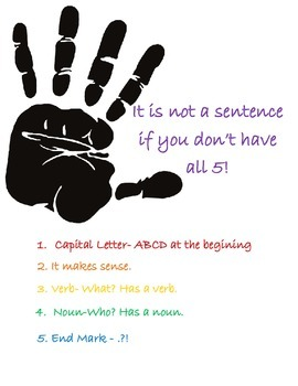 The Five Things You Need to Make a Sentence: English/Spanish