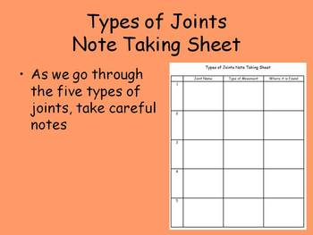 The Five Types of Joints PowerPoint and Additional Resources