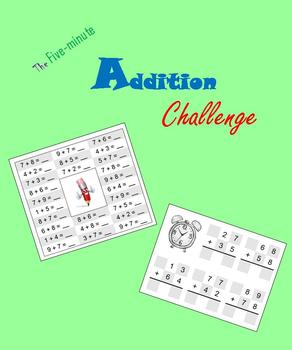 Five-minute Addition Challenge (Math Warm-ups)