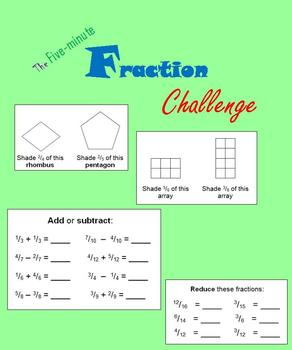 The Five-minute Fraction Challenge