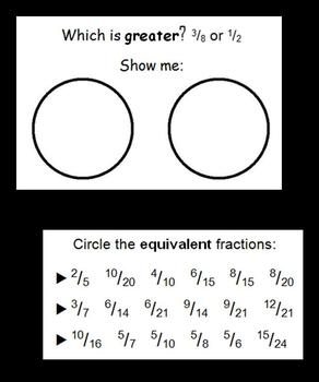 Five-minute Fraction Challenge (Math Warm-ups)