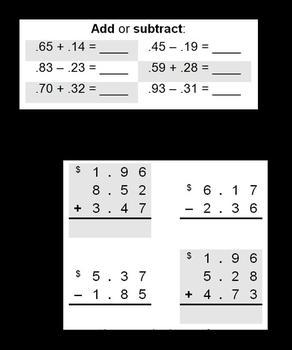 Five-minute Money Challenge (Math Warm-up)