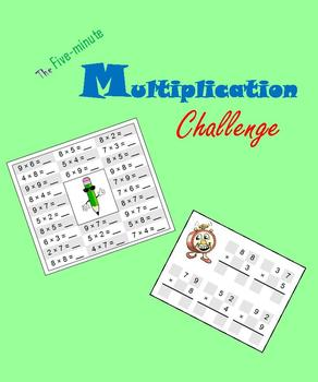 Five-minute Multiplication Challenge (Math Warm-ups)