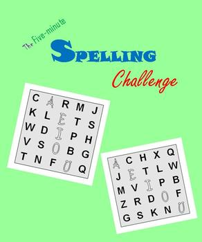 Five-minute Spelling Challenge (Math Warm-ups)