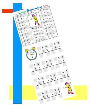 Five-minute Subtraction Challenge (Math Warm-ups)