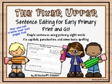 The Fixer Upper - Sentence editing for early primary - EDITABLE