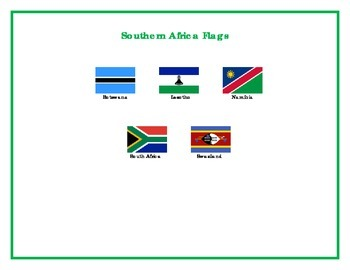 Flags of Southern Africa Matching