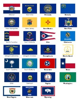 Flags of the USA Matching