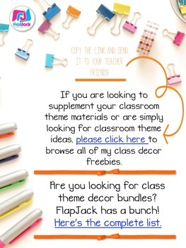 The FlapJack Classroom Themes Decor Freebies List