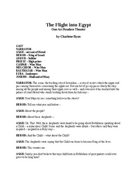 The Flight into Egypt - One Act Readers Theater