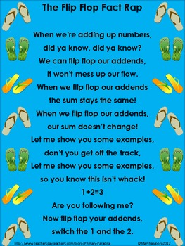 Addition: The Flip Flop Fact Rap (Commutative Property)