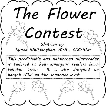 The Flower Contest  (Level B mini-reader to target /FL/)