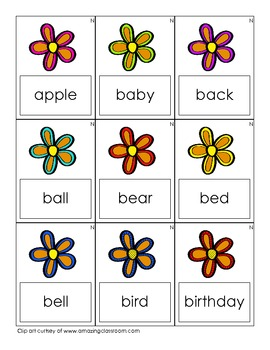 The Flower Garden - Dolch Word Nouns
