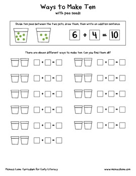 """The Flower Pot"" Homework Kit for Kindergarten (Set A #9 of 10)"