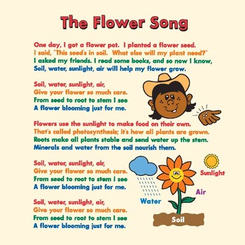 """""""The Flower Song"""" mp3, Karaoke Version, and Packet"""