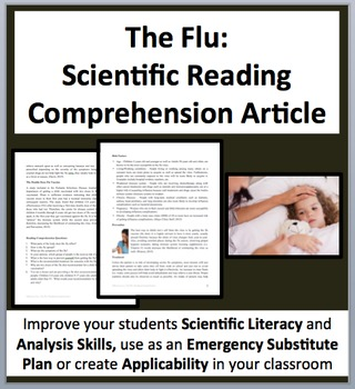 The Flu - A Science Reading Comprehension Resource