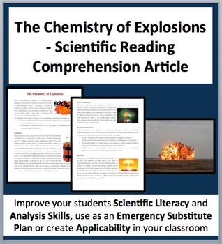The Chemistry of Explosives - A Science Reading Comprehension Resource