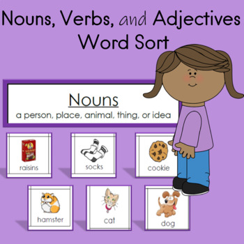 Nouns, Verbs, and Adjectives Center Sort to the book The Fly Flew In