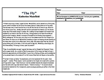 """""""The Fly"""" by Katherine Mansfield: Annotation Organizer"""