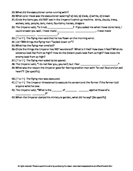 The Flying Machine by Ray Bradbury - Complete Guided Reading Worksheet