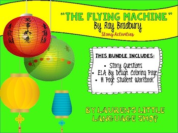 The Flying Machine by Ray Bradbury Question Puzzle and Student Workbook