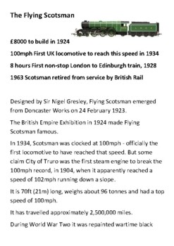 The Flying Scotsman Handout