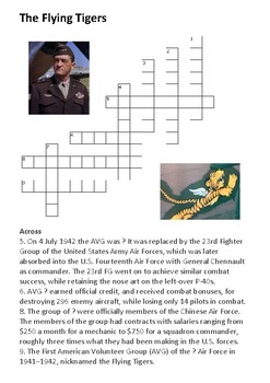 The Flying Tigers Crossword