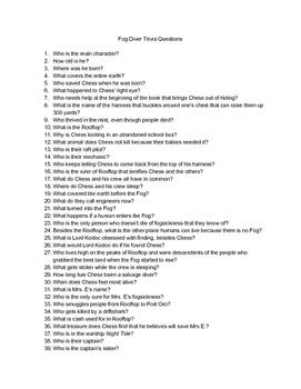 The Fog Diver Trivia Questions