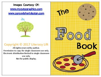 The Food Book - Guided Reading Levels aa/A